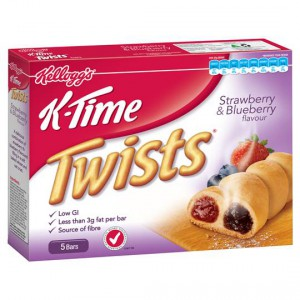 Kellogg's K-time Twist Strawberry & Blueberry