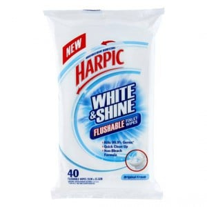 Harpic White & Shine Bathroom Cleaner Wipes