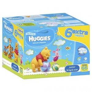 Huggies Ultra Dry Nappies Junior Boy 16+kg Jumbo Box