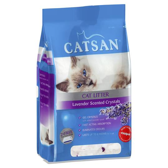 Catsan Cat Litter Lavendar Scented Crystals