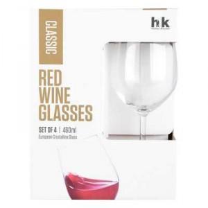 H2k Glassware Classic Red Wine Glasses