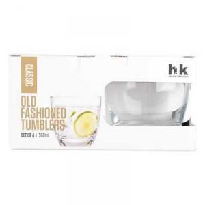 H2k Classic Glassware Old Fashion Tumblers