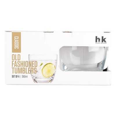 H2k Classic Glassware Old Fashion Tumblers