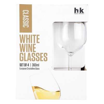 H2k Classic Glassware White Wine Glasses