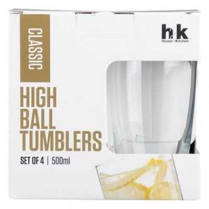 H2k Classic Glassware High Ball Tumblers