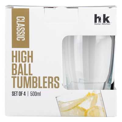 H2k Classic Glassware High Ball Tumblers