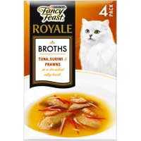 Fancy Feast Royale Adult Cat Food Surimi Prawn Broth