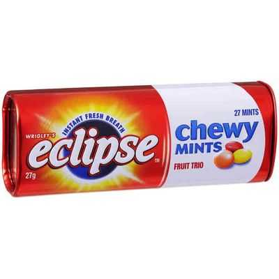Wrigley's Eclipse Chewy Mints Fruit Trio