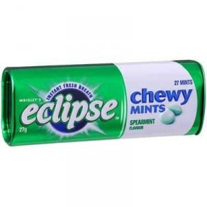 Wrigley's Eclipse Chewy Mints Spearmint