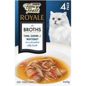 Fancy Feast Royale Cat Food Broth With Whitebait