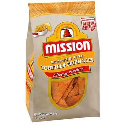 Mission Corn Chips Cheesy Nacho