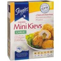 Steggles Crumbed Chicken Garlic Mini Kiev