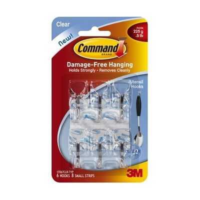Command Utensil Hooks Clear Value Pack
