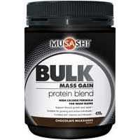 Musashi Bulk Mass Gain Protein Blend Chocolate