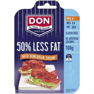 Don Salami Mild Sliced 50%less Fat