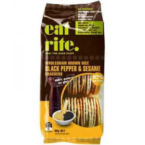 Eatrite Rice Crackers Black Pepper & Sesame