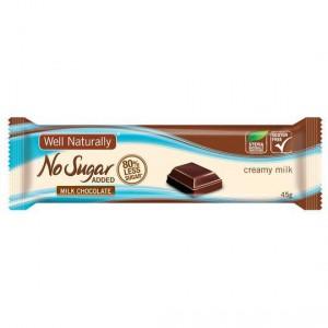 Well Naturally No Sugar Added Milk Choc Bar