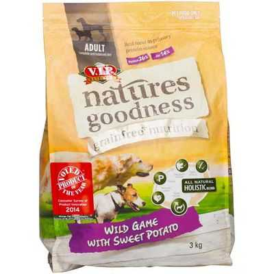 Vip Natures Goodness Grainfree Adult Dog Food Wild Game With Sweet Potato