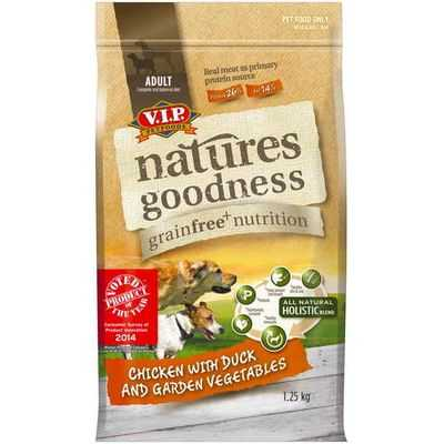 Vip Natures Goodness Grainfree Adult Dog Food Chicken With Duck & Vegetables