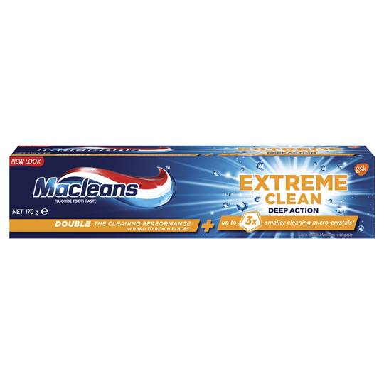 Macleans Extreme Clean Toothpaste Deep Action Whitening