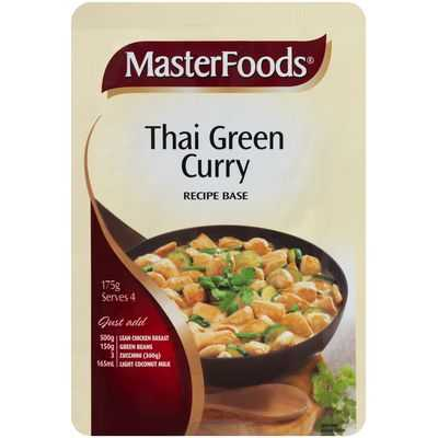Masterfoods Recipe Base Thai Green Curry
