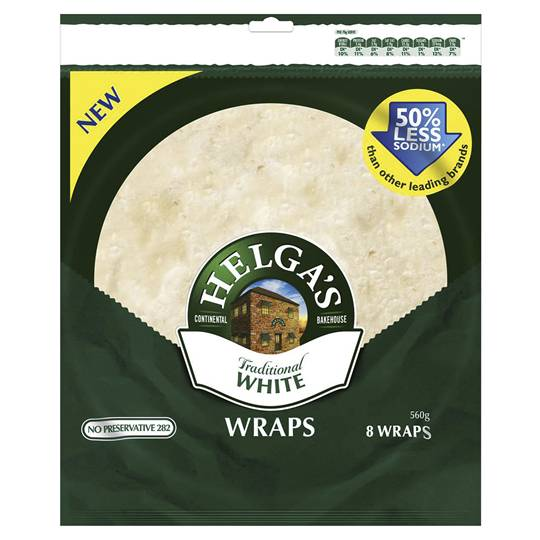 Helga's Wraps Traditional White