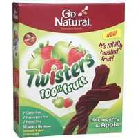 Go Natural Twisters Snacks Strawberry & Apple