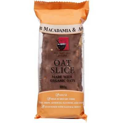 All Natural Bakery Bars Macadamia & Apricot Oat Slice