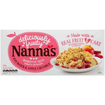 Simone reviewed Nanna's Crumble Rhubarb & Apple