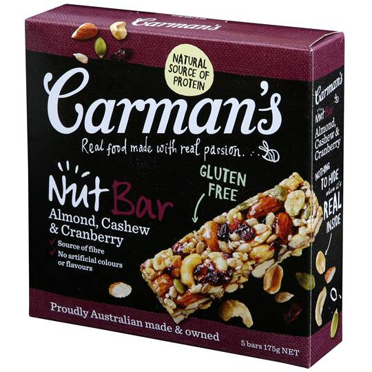 Carman's Almond, Cashew & Cranberry Nut Bars