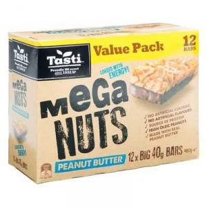 Tasti Nut Bar Value Pack Mega Nuts Peanut Butter