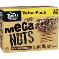 Tasti Nut Bar Value Pack Mega Nuts Double Choc