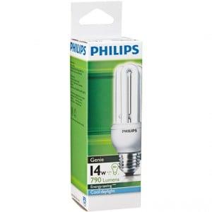 Philips Cfl Genie Cool Daylight Globe 14w Es Base