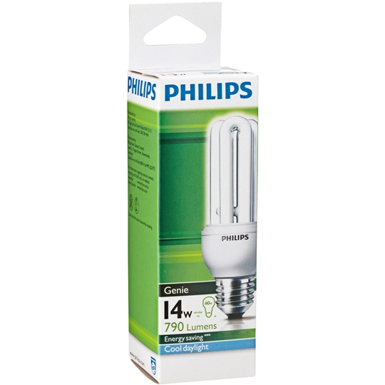 Philips Cfl Genie Cool Daylight Globe 14w Es Base