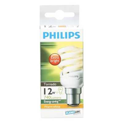 Philips Cfl Tornado Warm White 12w Bc Base