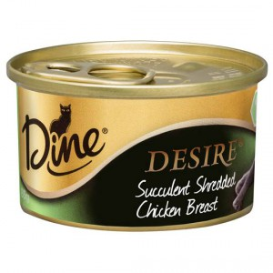 Dine Desire Adult Cat Food Shredded Chicken Breast 11+
