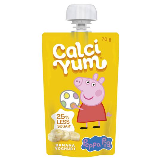 Calci Yum Kids Squeezie Banana Yoghurt