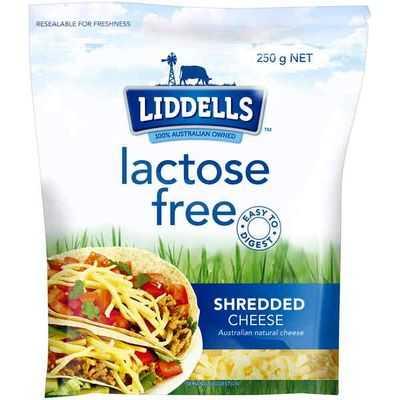 Liddells Lactose Free Shredded Cheese