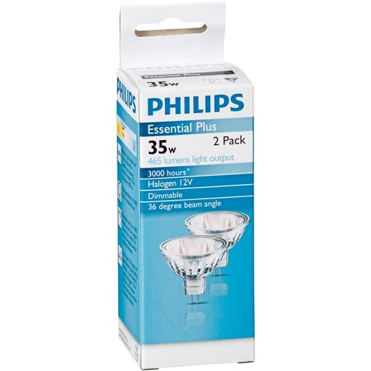 Philips Halogen 12v Downlight 35w 36degree 2pk