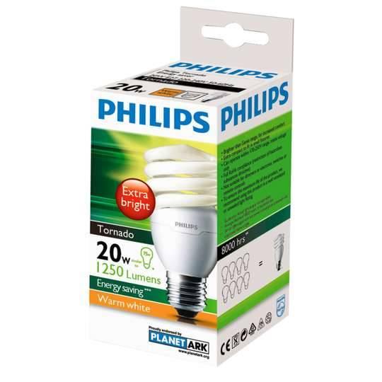 Philips Cfl Tornado Cool Daylight 20w Es Base