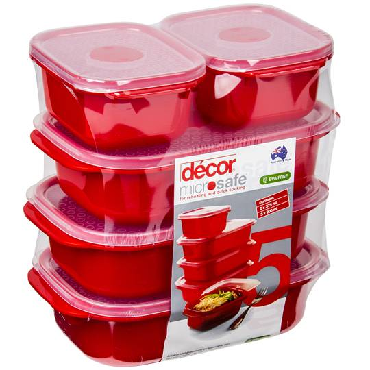 Decor Microsafe Container 5 Piece Pack