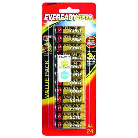 Eveready Aa Batteries Gold