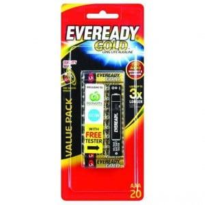 Eveready Aaa Batteries Gold