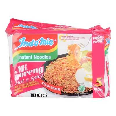 Indomie Hot & Spicy Noodles 5pk