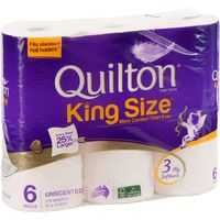 Quilton Toilet Tissue King Size Unscented