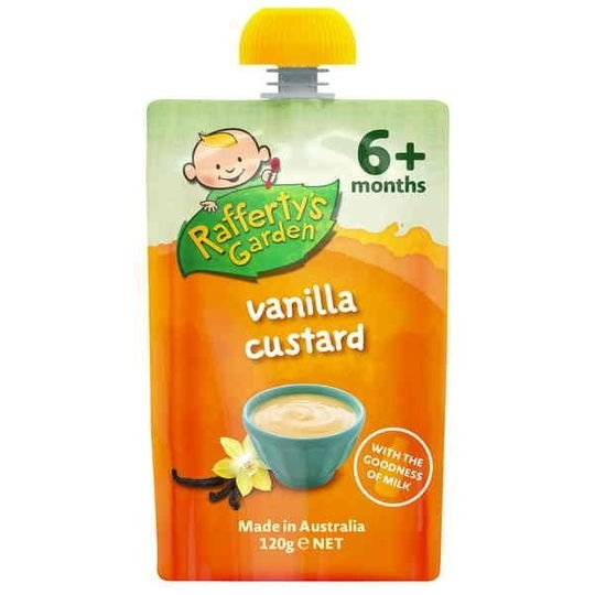 Rafferty's Garden Food 6 Months Pure Vanilla Custard