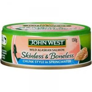 John West Skin & Boneless Salmon In Springwater