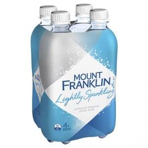 Mount Franklin Lightly Sparkling Natural Water