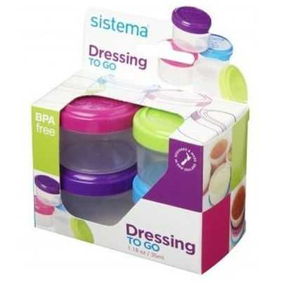 Sistema Plasticware Dressing Pot To Go