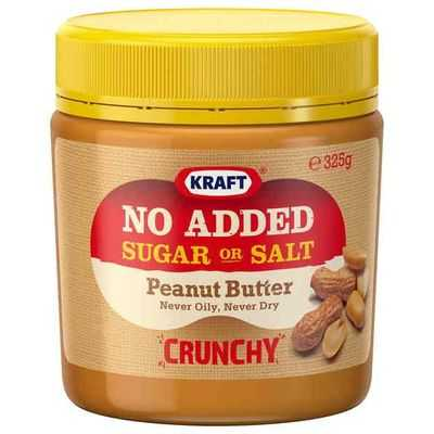 Kraft Crunchy No Added Sugar Peanut Butter
